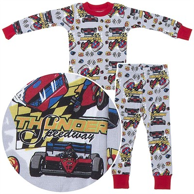 Frandas Gray Cotton Speedway Pajamas for Toddler Boys