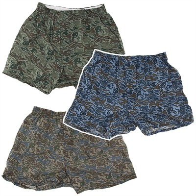 Fruit of the Loom Set of 3 Camo Boxers for Men