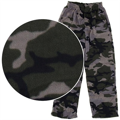 Fun Boxers Camouflage Fleece Pajama Pants for Men