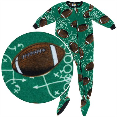 Fun Footies Football Plays Footie Pajamas for Men