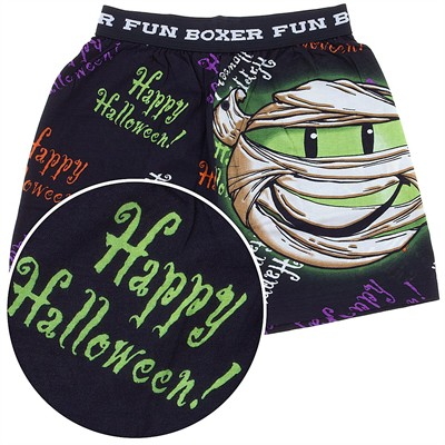 Fun Boxers Happy Halloween Mummy Boxer Shorts for Men
