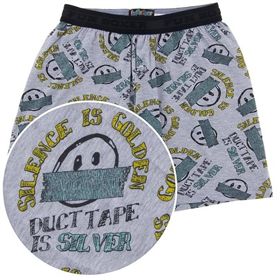 Fun Boxers Silence is Golden Boxer Shorts for Men