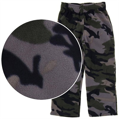 Fun Kidz Camouflage Fleece Pajama Pants for Boys