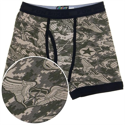 Fun Boxers Digital Camo Boxer Briefs for Men