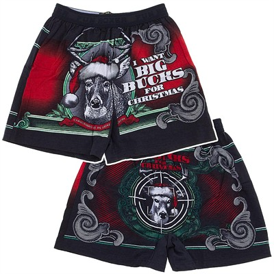 Fun Boxers I Want Big Bucks Christmas Boxer Shorts for Men