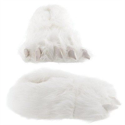 Polar Bear Paw Slippers for Men and Women