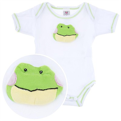 Ganz Onesie with Plush Frog Face for Baby Boys