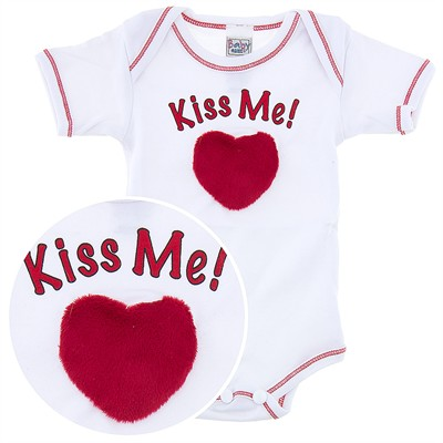 Ganz Kiss Me Heart Onesie for Baby Boys