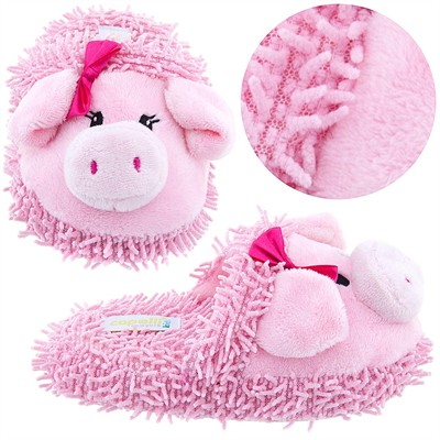 Pink Pig Animal Slippers for Girls