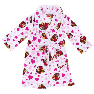 Angry Birds Plush Bath Robe for Girls