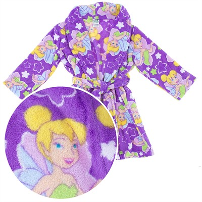 Dark Purple Tinker Bell Plush Bathrobe for Girls