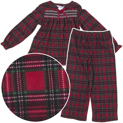 Red Plaid Christmas Pajamas for Girls