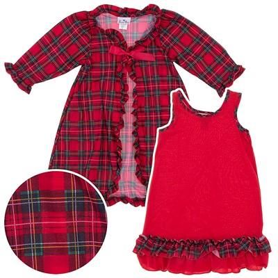Laura Dare Red Christmas Peignoir Set for Girls