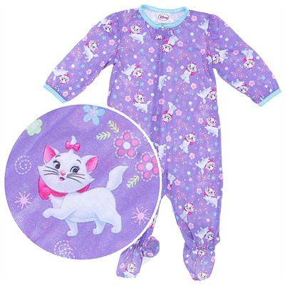 Aristocats Marie Footed Pajamas for Baby Girls