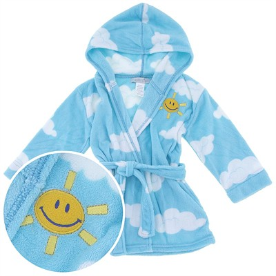 Blue Cloud Hooded Bathrobe for Girls