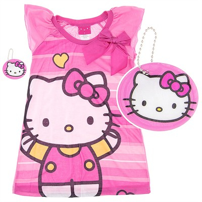 Hello Kitty Pink Nightgown for Girls