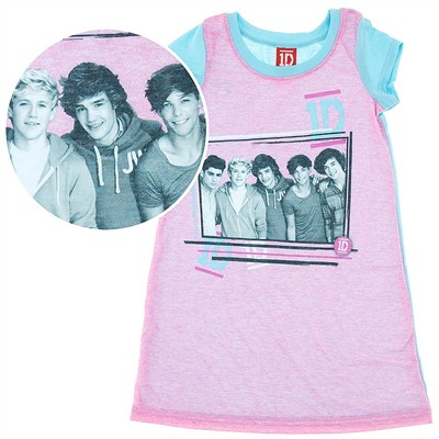 One Direction Pink Nightgown for Girls