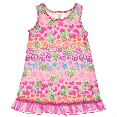 Peace Frog Nightgown for Girls