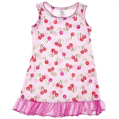 Pink Cherry Nightgown for Girls