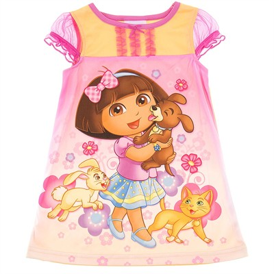 Dora the Explorer Yellow Nightgown for Toddler Girls