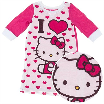 Hello Kitty Heart Nightgown for Girls