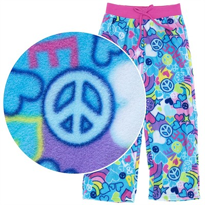 Peace Fleece Pajama Pants for Girls