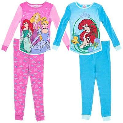 Disney Princess Cotton 2 Pack Pajamas for Girls