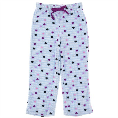 Calvin Klein Blue Heart Fleece Pajama Pants for Girls