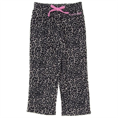 Calvin Klein Gray Leopard Fleece Pajama Pants for Girls