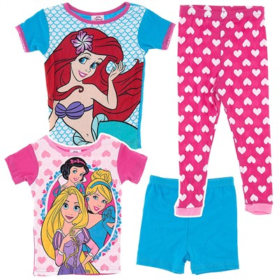 Disney Princess Set of Two Cotton Pajamas for Girls