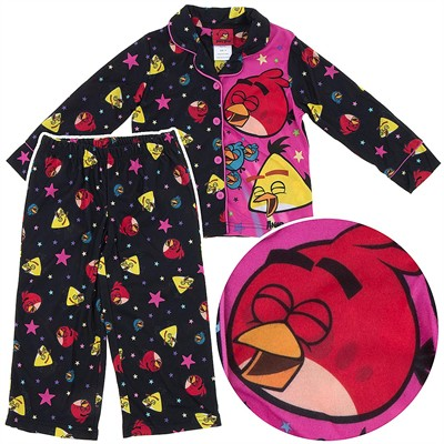 Angry Birds Coat-Style Pajamas for Girls