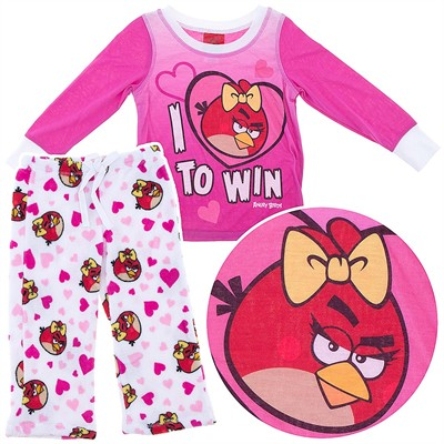 Angry Birds Plush Winning Pajamas for Girls