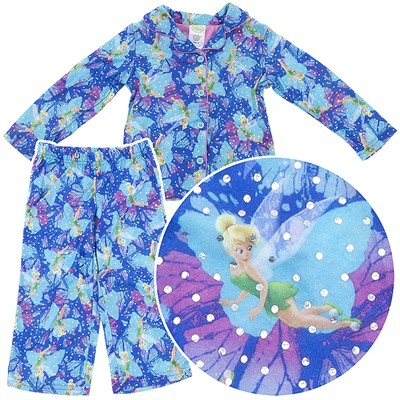 Tinker Bell Holiday Snow Coat-Style Pajamas for Girls