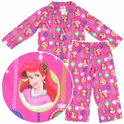 Disney Princess Coat-Style Pajamas for Girls