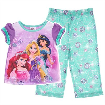 Disney Princess Purple Pajamas for Toddler Girls