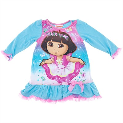 Dora the Explorer Blue Nightgown for Toddler Girls