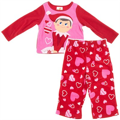 Red Elf on the Shelf Pajamas for Toddler Girls