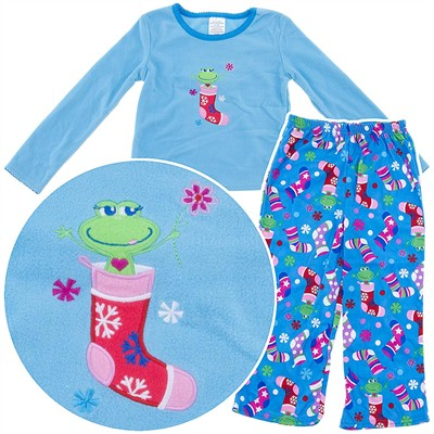 Frog Fleece Pajamas for Girls