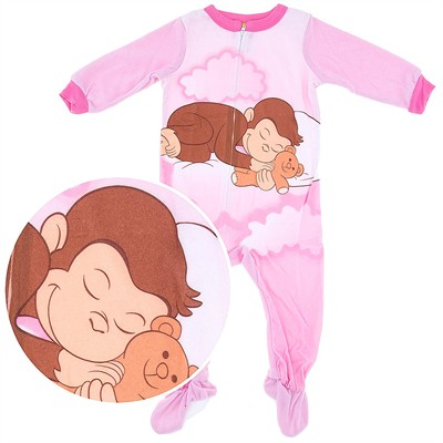 Curious George Footed Sleeper Pajamas for Girls