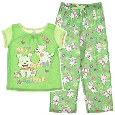 Green Best Friends Forever Pajamas for Girls
