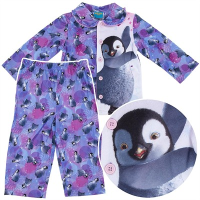 Happy Feet Coat-Style Pajamas for Toddler Girls