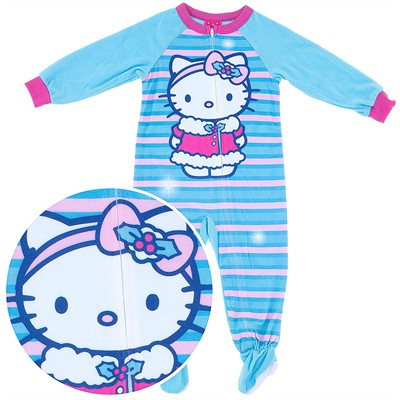 Hello Kitty Footed Pajamas for Toddler Girls