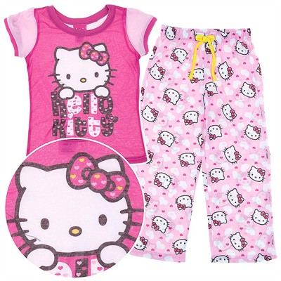 Hello Kitty Pink Heart Pajamas for Girls