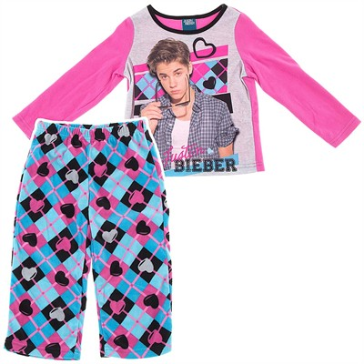 Justin Bieber Arygle Pajamas for Girls