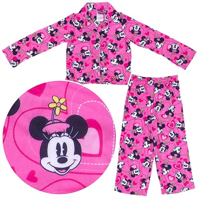 Minnie Mouse Pink Coat-Style Pajamas for Girls
