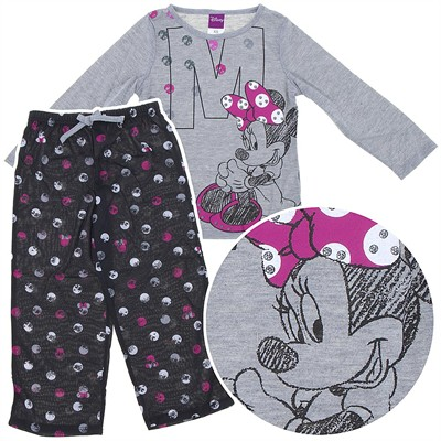 Minnie Mouse Gray Pajamas for Girls