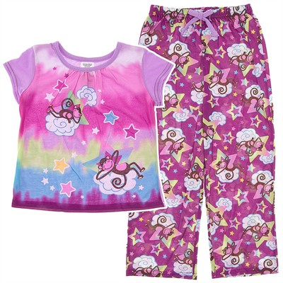 Purple Monkey Pajamas for Girls