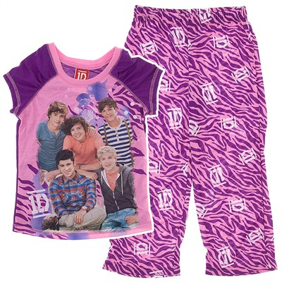 One Direction Purple Pajamas for Girls