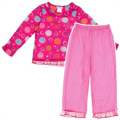 Pink Polka Dot Pajamas for Girls