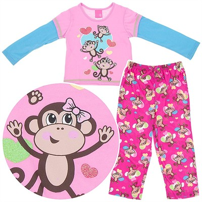Monkey Pajamas for Girls